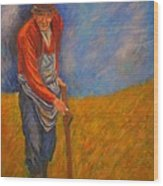 Old Farmer Michel Wood Print