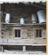 Old Farmhouse Wood Print