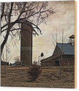 Old Farmstead  Wood Print