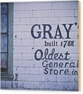 Old Fashioned General Store Abandoned Wood Print