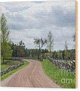 Old Fashioned Gravel Road Wood Print