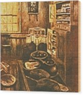 Old Fashioned Kitchen Again Wood Print