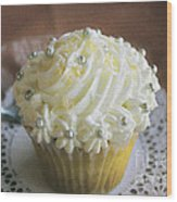 Old Fashioned Lemon Cupcake Wood Print