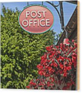 Old Fashioned Post Office Sign Wood Print
