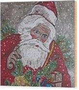Old Fashioned Santa Wood Print