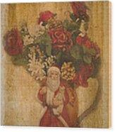 Old Fashioned St Nick Wood Print