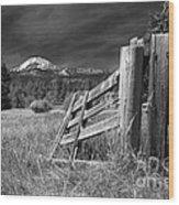 Old Fence At Mount Lassen Wood Print