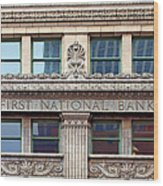 Old First National Bank - Building - Omaha Wood Print