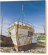 Old Fishing Boats Camaret-sur-mer Brittany France Wood Print by Colin and Linda McKie