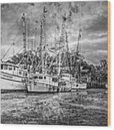 Old Fishing Boats Wood Print