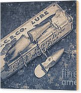 Old Fishing Lures Wood Print