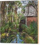 Old Florida Watermill I Wood Print