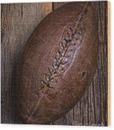 Old Football Wood Print
