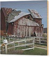 Old Forlorn Decrepid Wooden Barn Wood Print