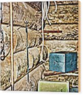 Old Fort Interior Room Wood Print