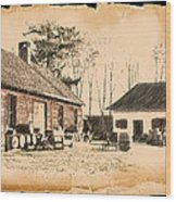 Old Fort Langley 1 Wood Print