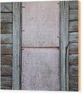 Old Framed Window Wood Print
