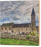 Old French Church Wood Print