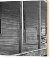 Old Front Country Porch  Wood Print