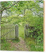 Old Garden Gate Wood Print