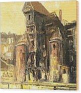 Old Gdansk - The Crane Wood Print