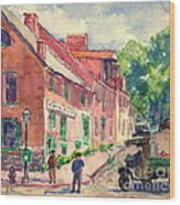 Old Georgetown Dc 1910 Wood Print