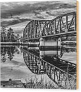 Old Georgia Florida Bridge Wood Print