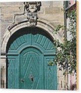 Old German Door  Wood Print