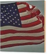 Old Glory American Flag 7 6/29 Wood Print