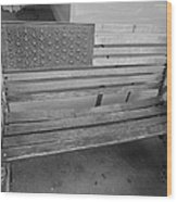 Old Glory Bench In Philadelphia Wood Print