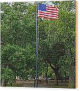 Old Glory High And Proud Wood Print