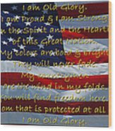 Old Glory Wood Print by Robyn Stacey