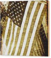 Old Glory Sepia Rustic Wood Print