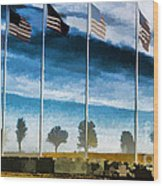 Old Glory-the American Flag Wood Print by Luther Fine Art