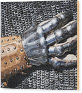 Old Glove Of A Medieval Knight Wood Print