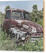 Old Gmc Truck Wood Print