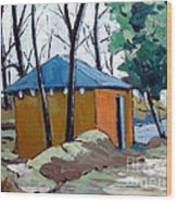 Old Golf Course Shed No.5 Wood Print