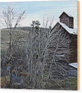 Old Grain Barn Wood Print