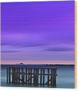 Old Granton Pier Wood Print