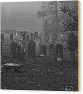 Old Graveyard Wood Print