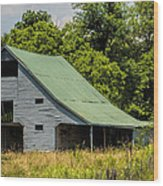 Old Gray Barn Wood Print