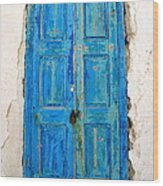 Old Greek Shutter Wood Print