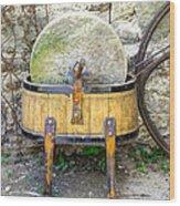 Old Grindstone Wood Print