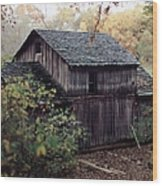 Old Grist Mill Wood Print by Thomas Woolworth