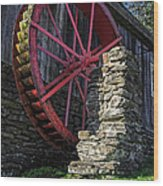 Old Grist Mill Vermont Wood Print
