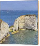 Old Harry Rocks - Purbeck Wood Print