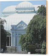 Old Historical Building At Botanical Gardens Of New York Wood Print