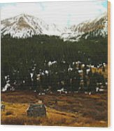 Old Homestead In The Colorado Mountains Wood Print