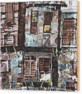 Old Hopuse Wood Print