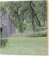 Old Horse Barn Wood Print